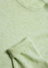 Linen Crewneck Sweater, thumbnail 2