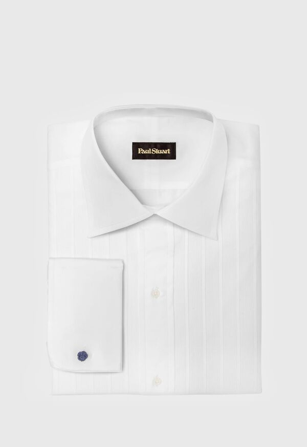 Fancy Pleated Front Cotton Formal Shirt, image 1