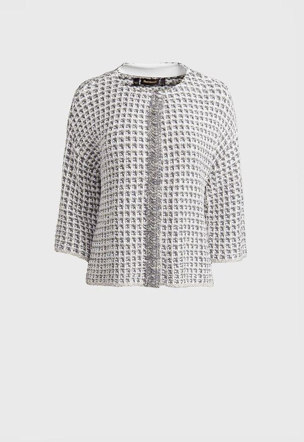 Sweater Jacket with Fringe, image 1