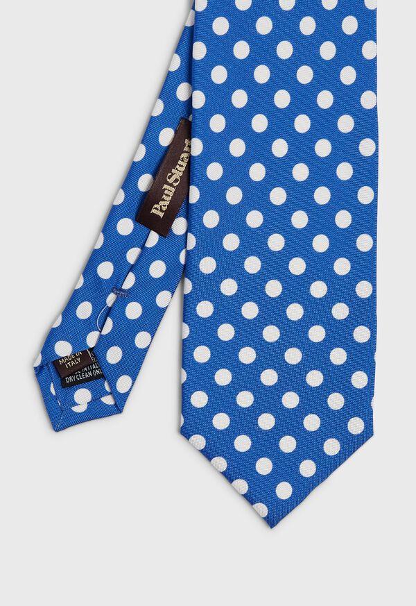Large Dot Silk Tie, image 1