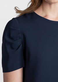 Dress with Ruched Sleeves, thumbnail 3