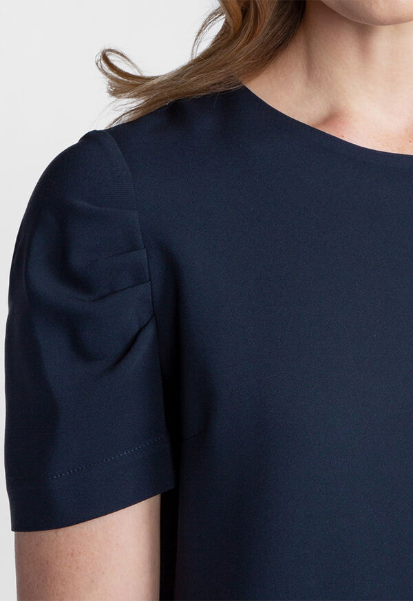 Dress with Ruched Sleeves, image 3