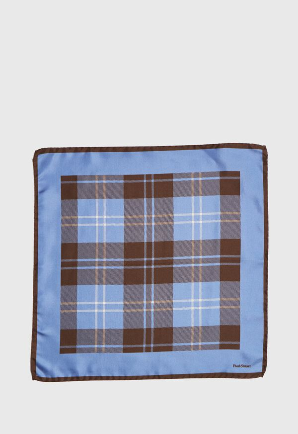 Plaid Pocket Square With Contrast Border, image 2