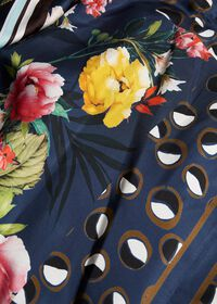 Silk Patchwork Midi Skirt, thumbnail 2