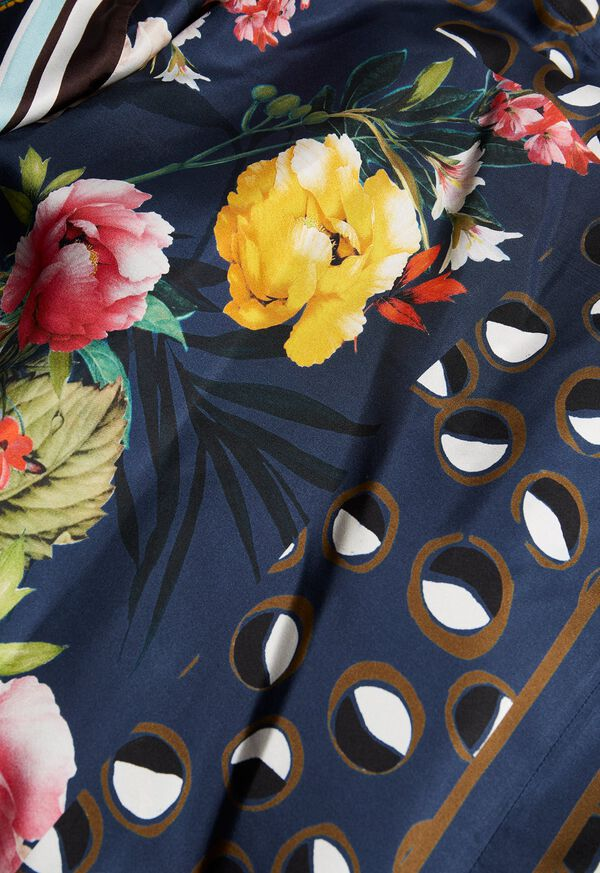 Silk Patchwork Midi Skirt, image 2