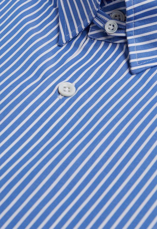 Blue and White Stripe Dress Shirt, image 3