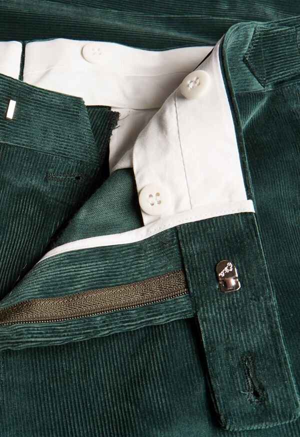 Flat Front Corduroy Trouser, image 2