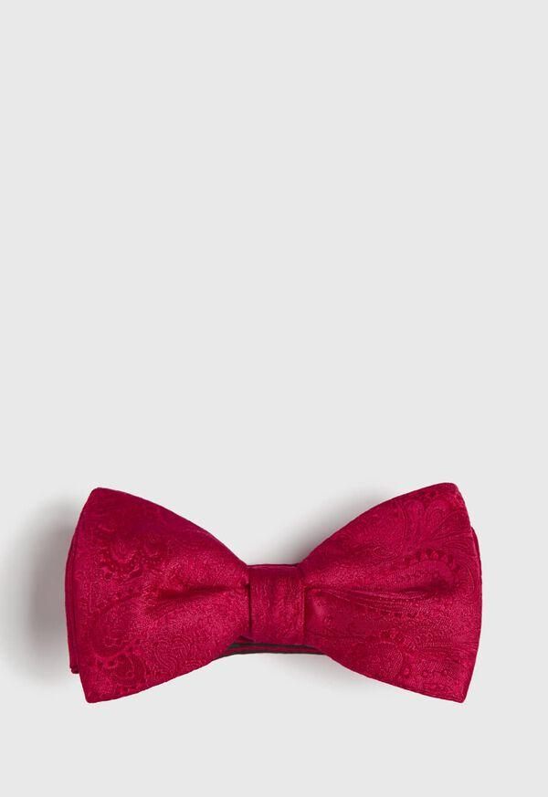 Silk Paisley Jacquard Bow Tie, image 1