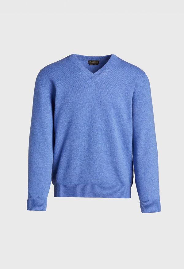 Scottish Cashmere V-Neck Sweater, image 4