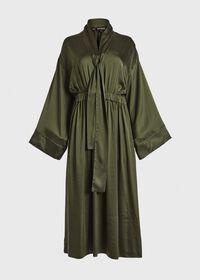 Washed Silk Kimono Sleeve Dress, thumbnail 1