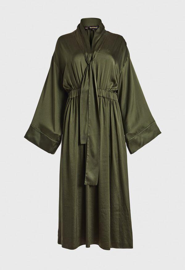 Washed Silk Kimono Sleeve Dress, image 1