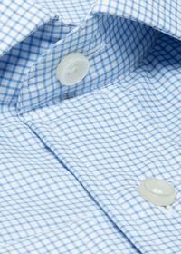 Cotton Graph Check Dress Shirt, thumbnail 2