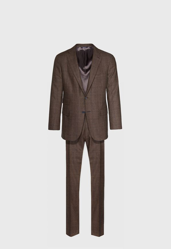 Paul Fit Brown Plaid Wool Suit
