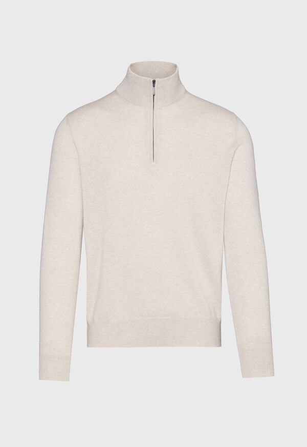 Cashmere 1/4 Zip Mock Neck Sweater, image 1