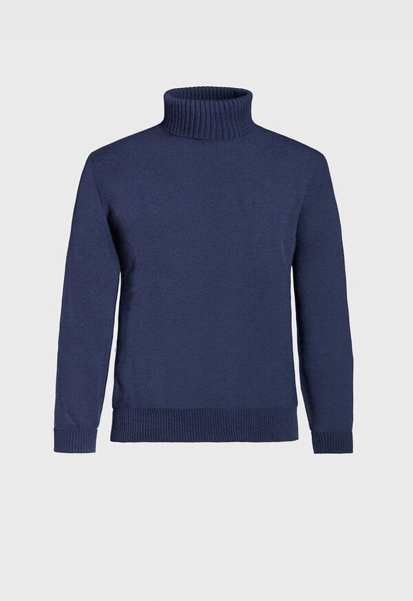 Classic Cashmere Double Ply Turtleneck Sweater, image 1