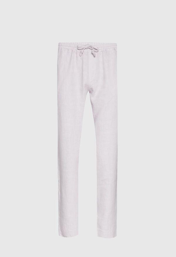 Drawstring Washed Linen Pant, image 3