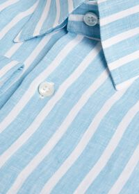 Linen Stripe Sport Shirt, thumbnail 2