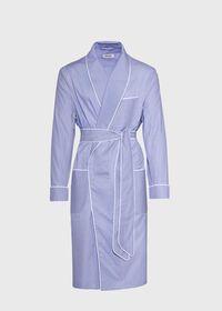 Cotton Micro-Houndstooth Robe, thumbnail 1