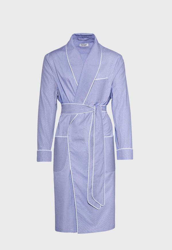 Cotton Micro-Houndstooth Robe, image 1