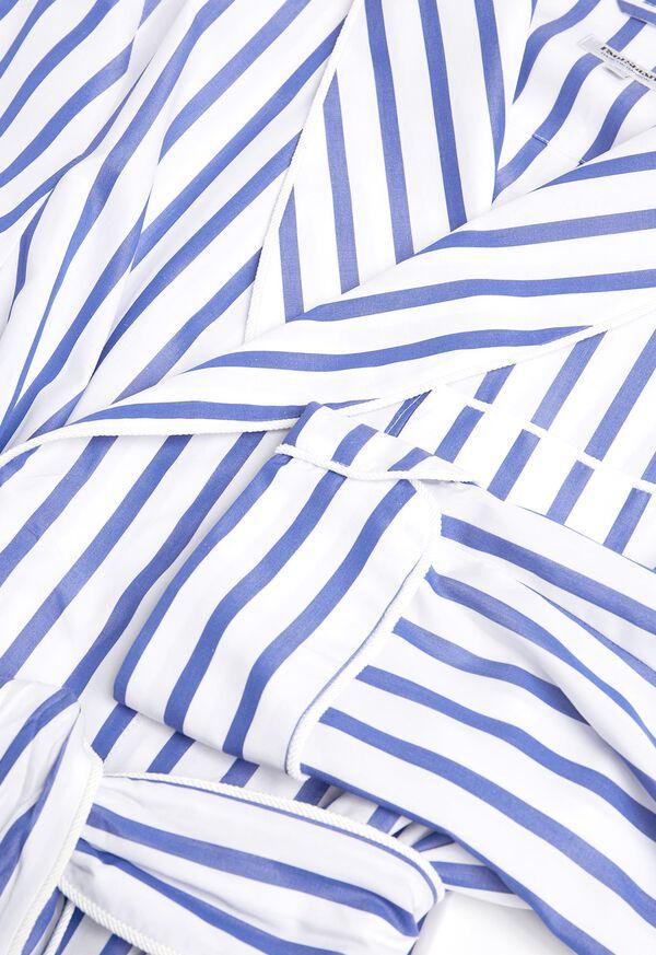 Awning Stripe Cotton Robe, image 2