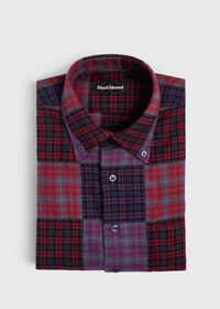 Patchwork Brushed Flannel Sport Shirt, thumbnail 1