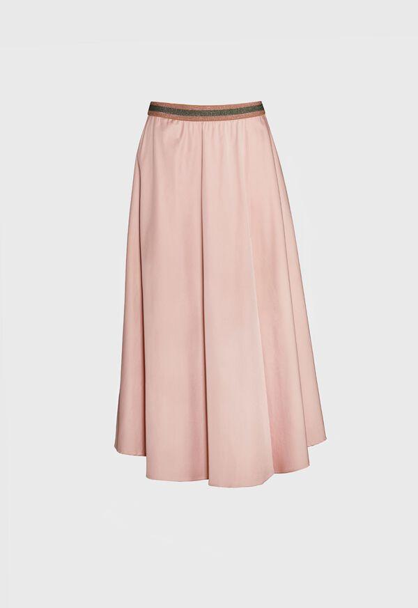 Poplin Skirt with Striped Waistband, image 1