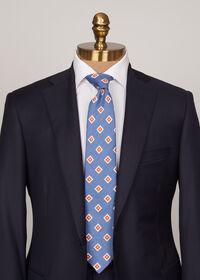Silk And Linen Medallion Tie, thumbnail 2