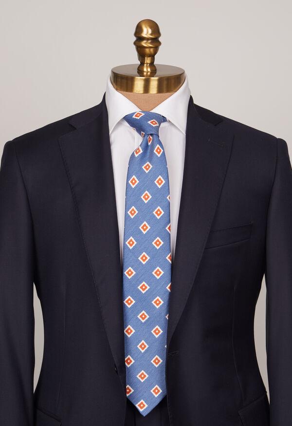 Silk And Linen Medallion Tie, image 2