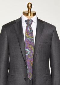 Bold Color Printed Paisley Tie, thumbnail 2