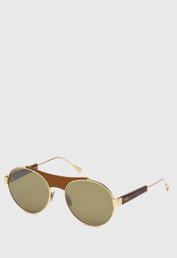 Tod's Gold Titanium Sunglasses, image 1