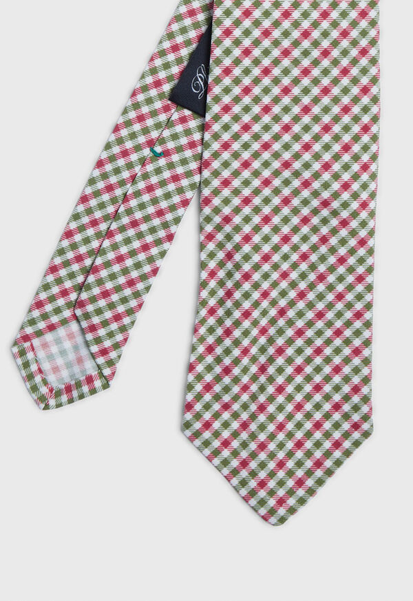 Small Square Pattern Tie, image 1