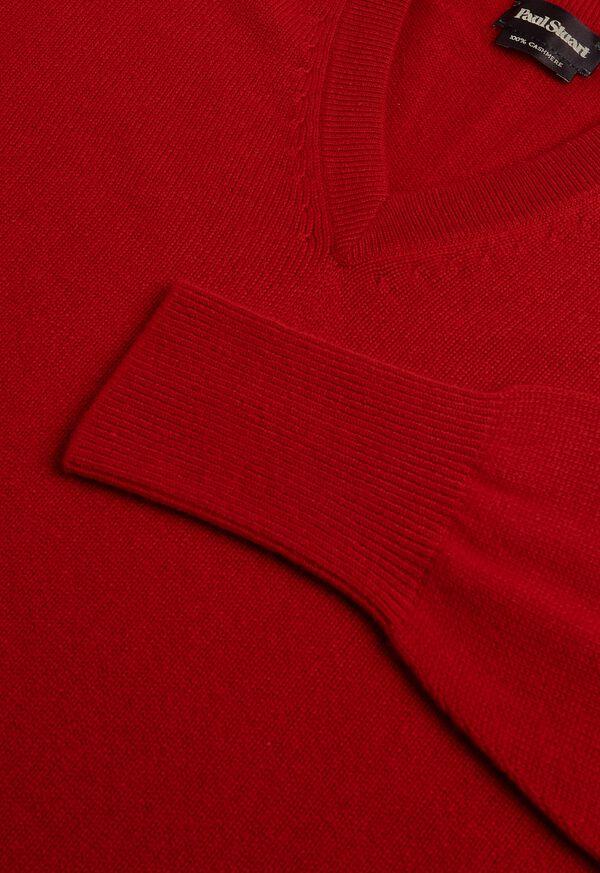 Scottish Cashmere V-Neck Sweater, image 2