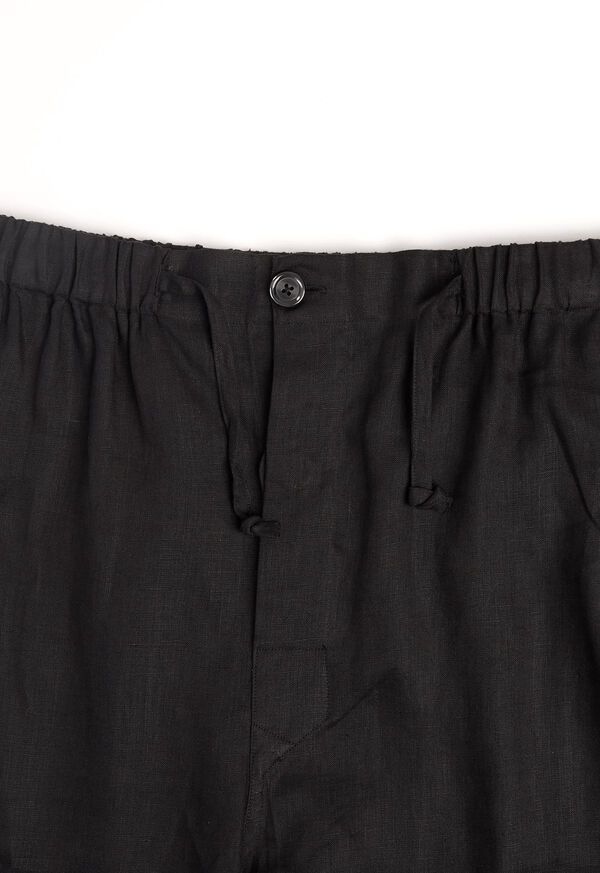 Black Linen Pleated Pull Over Lounge Set, image 8