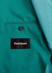 Green Cotton Blend Denim Jacket, thumbnail 6