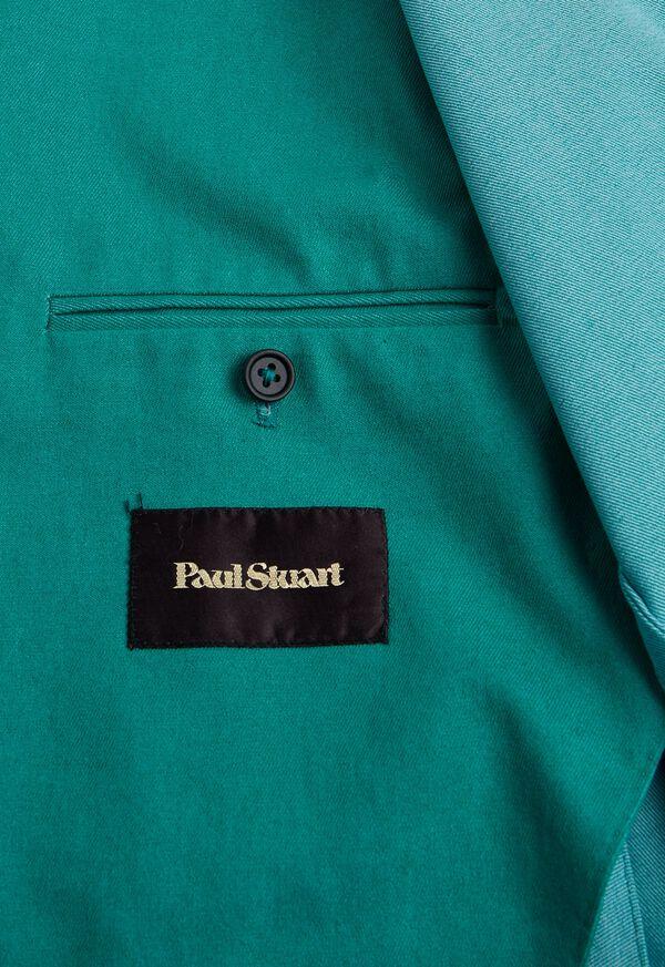 Green Cotton Blend Denim Jacket, image 6