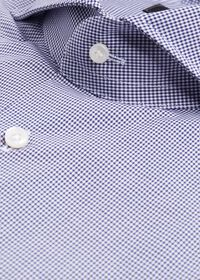 Navy Mini Check Dress Shirt, thumbnail 2