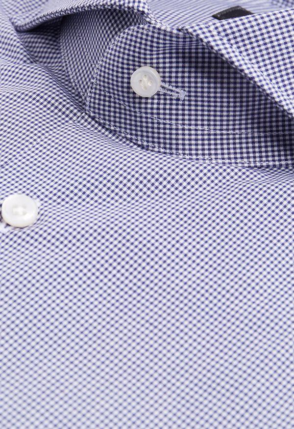 Navy Mini Check Dress Shirt, image 2
