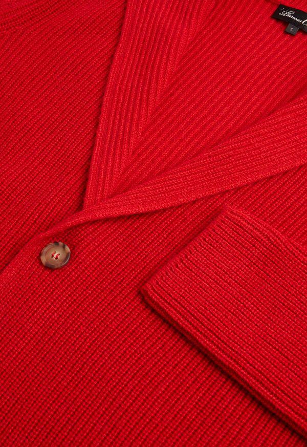 Cashmere Shawl Collar Cardigan, image 2