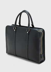Leather Contrast Stitch Briefcase, thumbnail 1