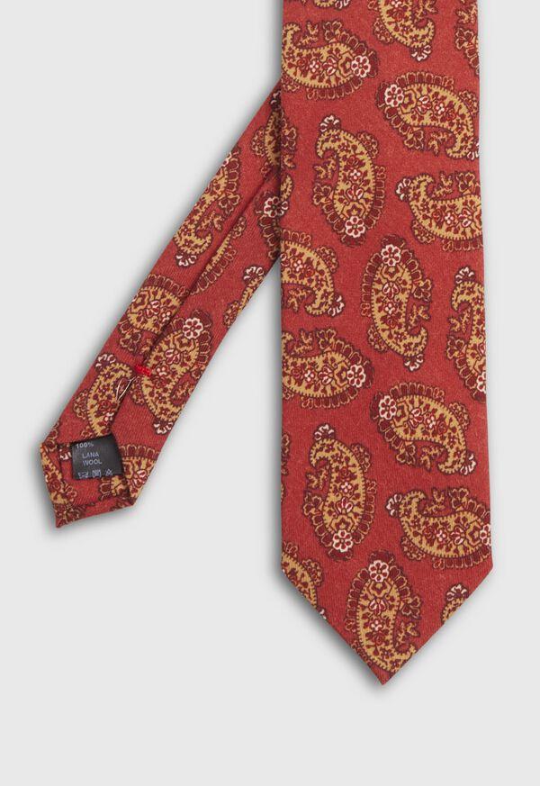 Coral Paisley Tie
