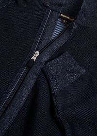 Cotton Full Zip Ribbed Cardigan, thumbnail 2