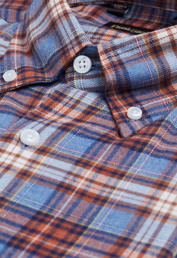 Plaid Brushed Flannel Sport Shirt, image 2
