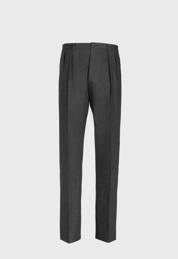 Straight Leg Pleated Wool Flannel Pant, image 1