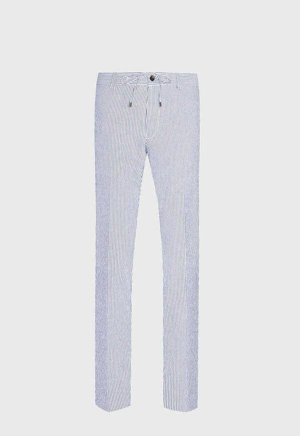 Slim Fit Drawstring Seersucker Pant, image 1