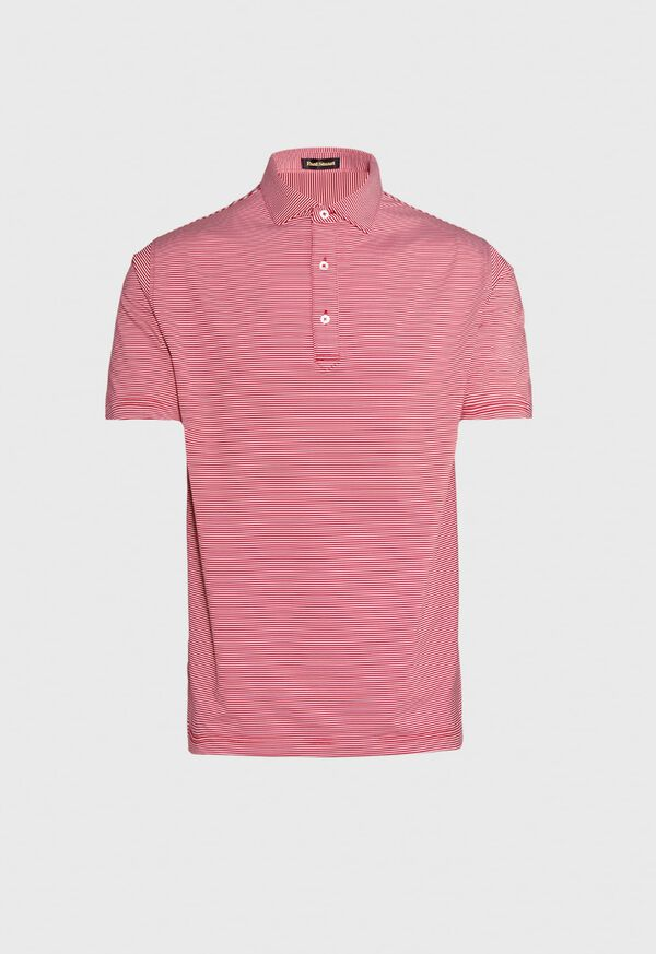 Stripe Performance Polo, image 1