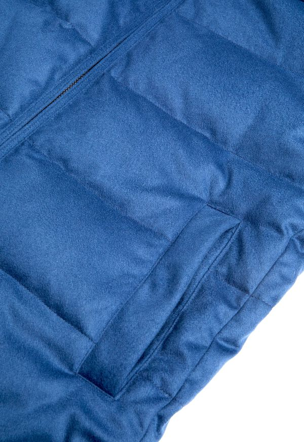 Cashmere Quilted Down Puffer Jacket, image 6
