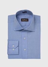Slim Fit Blue Cotton Dress Shirt, thumbnail 1
