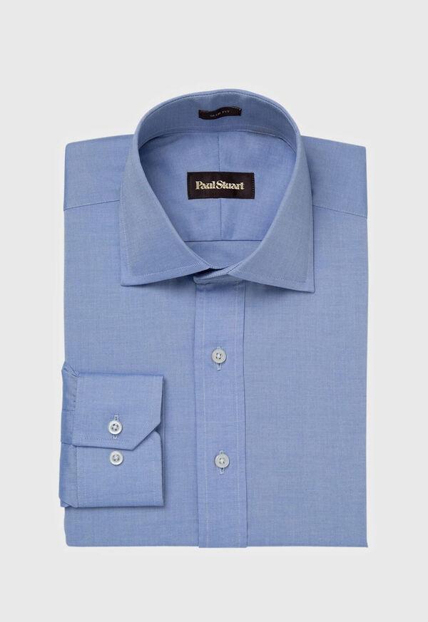 Slim Fit Blue Cotton Dress Shirt, image 1