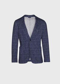 Plaid Printed Jersey Soft Jacket, thumbnail 1