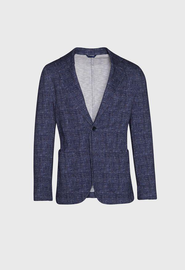 Plaid Printed Jersey Soft Jacket, image 1